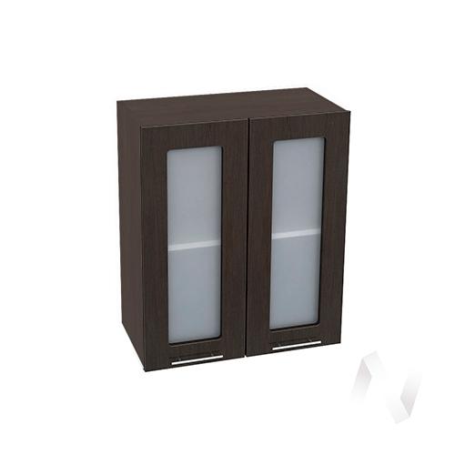 """Кухня """"Валерия-М"""": Шкаф верхний со стеклом 600, ШВС 600 (венге/корпус венге)"""