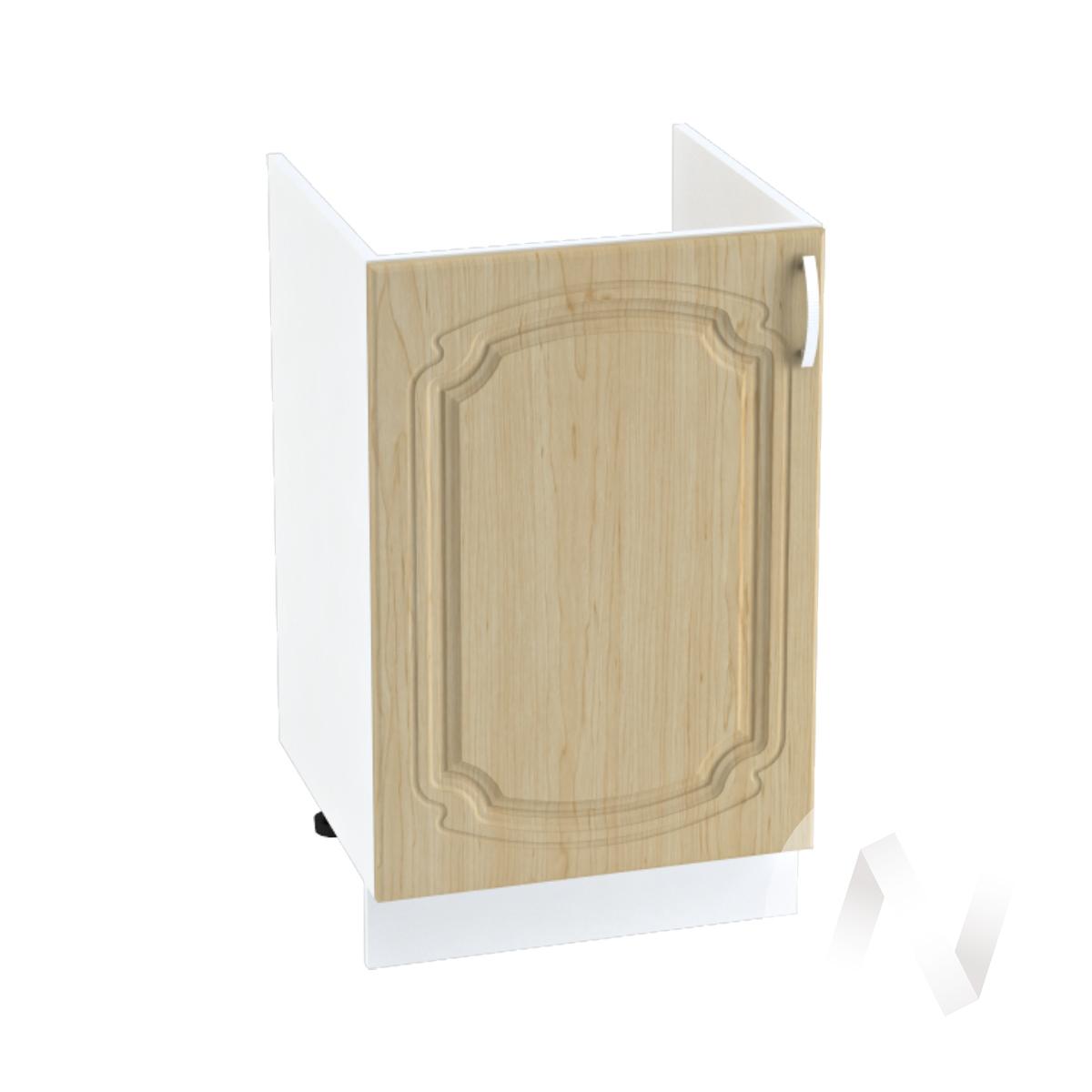 """Кухня """"Настя"""": Шкаф нижний под мойку 500, ШНМ 500 (Береза/корпус белый)"""