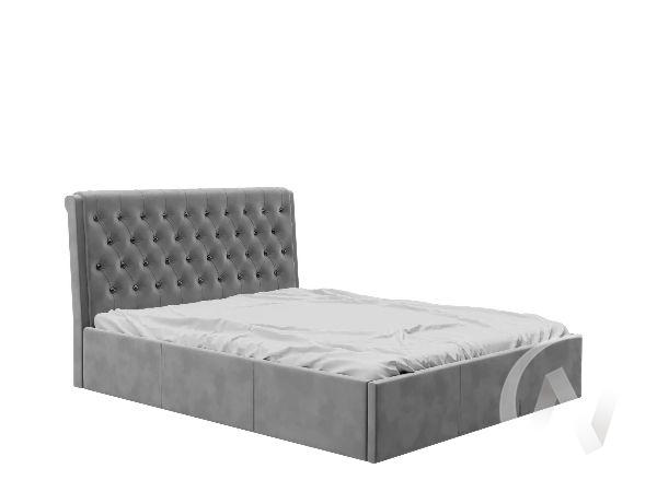 Кровать Прима 1,6 (вельвет серый)