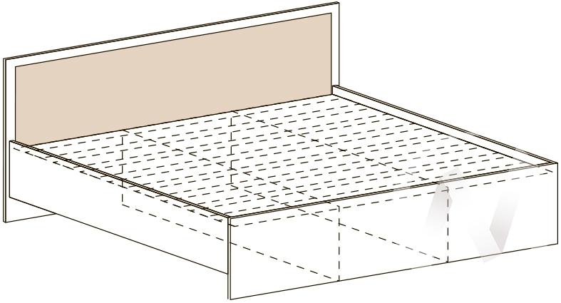 Кровать КР 401 Спальня Барселона (белфорт/белфорт)