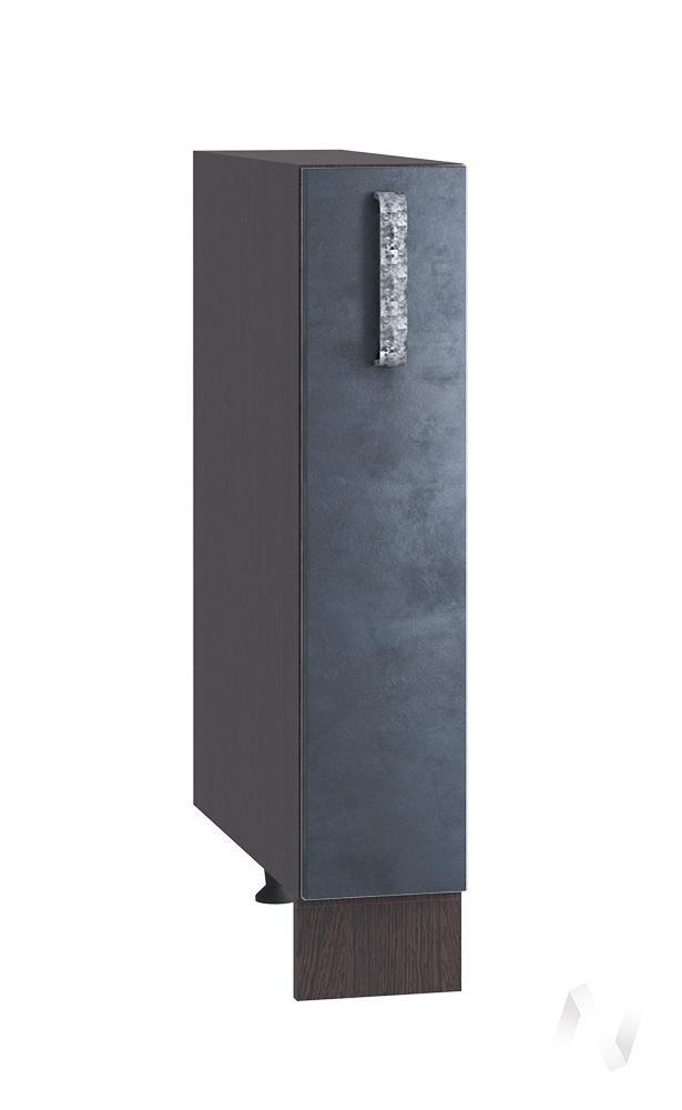 "Кухня ""Лофт"": Шкаф нижний бутылочница 150, ШНБ 150 (Бетон графит/корпус венге)"