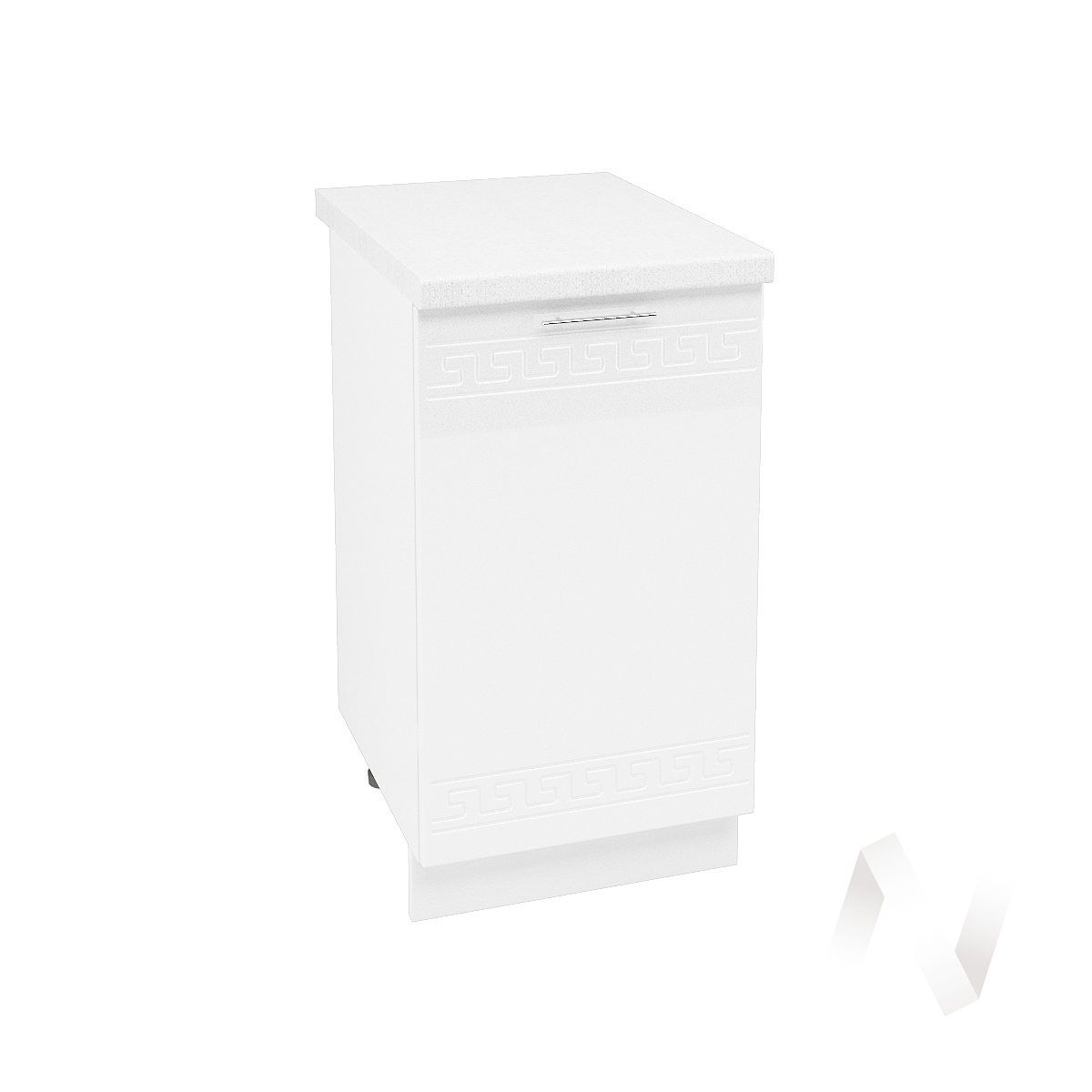 """Кухня """"Греция"""": Шкаф нижний 450, ШН 450 (белый металлик/корпус белый)"""