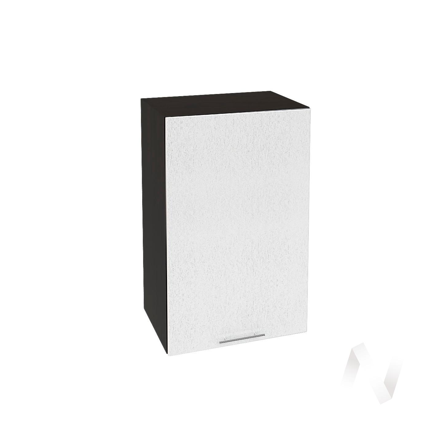 """Кухня """"Валерия-М"""": Шкаф верхний 450, ШВ 450 (дождь серый/корпус венге)"""