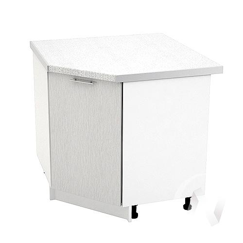 "Кухня ""Валерия-М"": Шкаф нижний угловой 890, ШНУ 890 (дождь серый/корпус белый)"