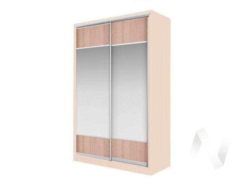 Шкаф-купе «Элвис» 2-х дверный Витрина (дуб сонома/дуб мл.)  в Томске — интернет магазин МИРА-мебель
