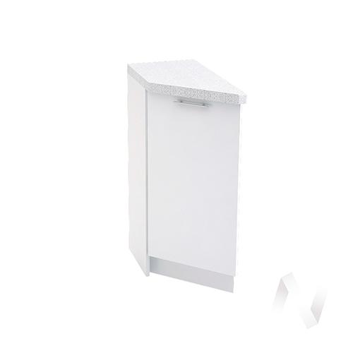 """Кухня """"Валерия-М"""": Шкаф нижний торцевой 300, ШНТ 300 (белый металлик/корпус белый)"""