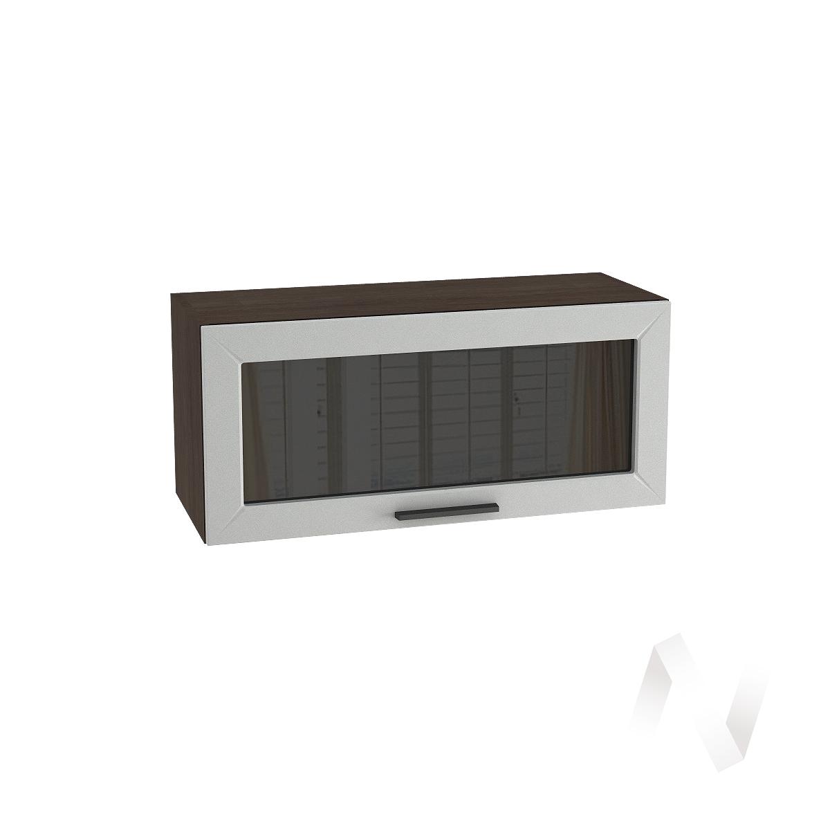 """Кухня """"Глетчер"""": Шкаф верхний горизонтальный со стеклом 800, ШВГС 800 (Гейнсборо силк/корпус венге)"""