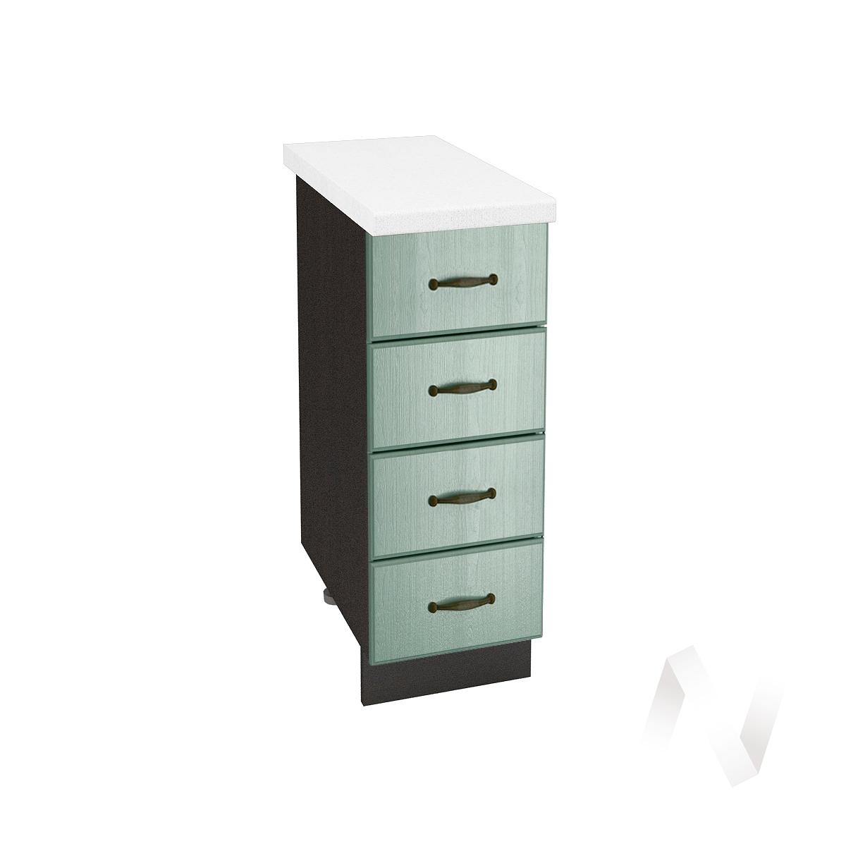 "Кухня ""Прованс"": Шкаф нижний с 4-мя ящиками 300, ШН4Я 300 (корпус венге)"