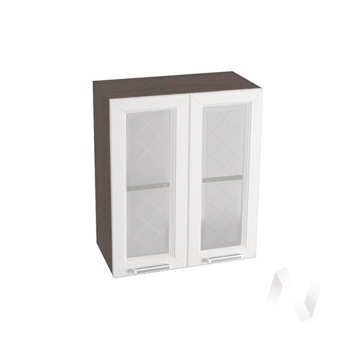 """Кухня """"Вена"""": Шкаф верхний со стеклом 600, ШВС 600 (корпус венге)"""