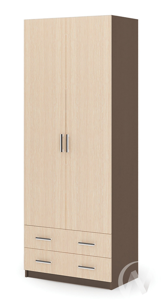Шкаф 2-х ств ШК 603М ДУЭТ Спальня Гармония (шимо темный/шимо светлый)