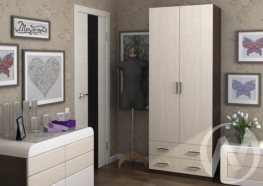 Шкаф Дуэт 2-х створчатый (венге/белфорд) недорого в Томске — интернет-магазин авторской мебели Экостиль
