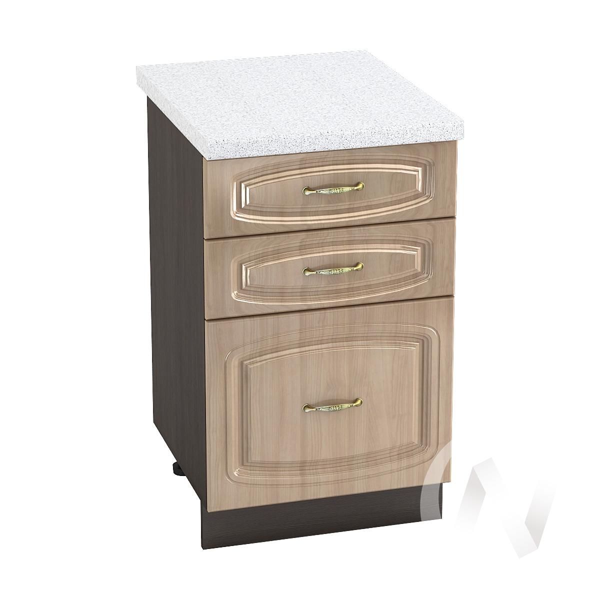 """Кухня """"Сити"""": Шкаф нижний с 3-мя ящиками 500, ШН3Я 500 (корпус венге)"""