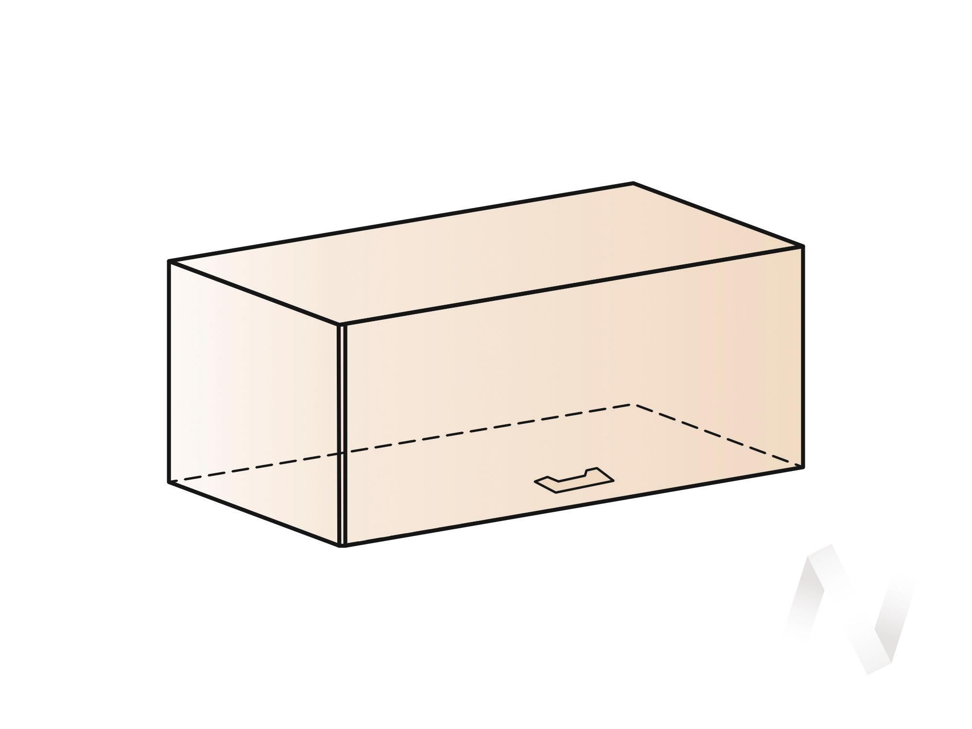 """Кухня """"Греция"""": Шкаф верхний горизонтальный 800, ШВГ 800 (белый металлик/корпус белый)  в Новосибирске - интернет магазин Мебельный Проспект"""