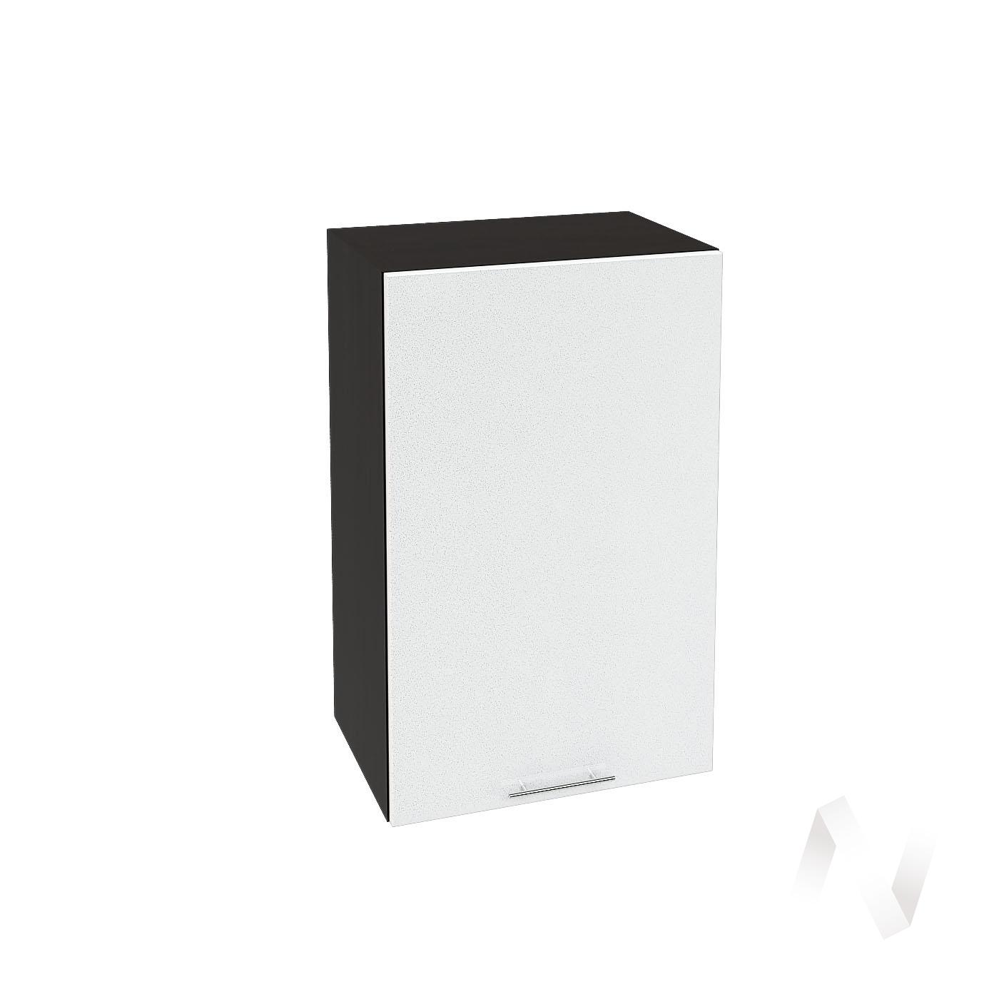"Кухня ""Валерия-М"": Шкаф верхний 450, ШВ 450 (белый металлик/корпус венге)"
