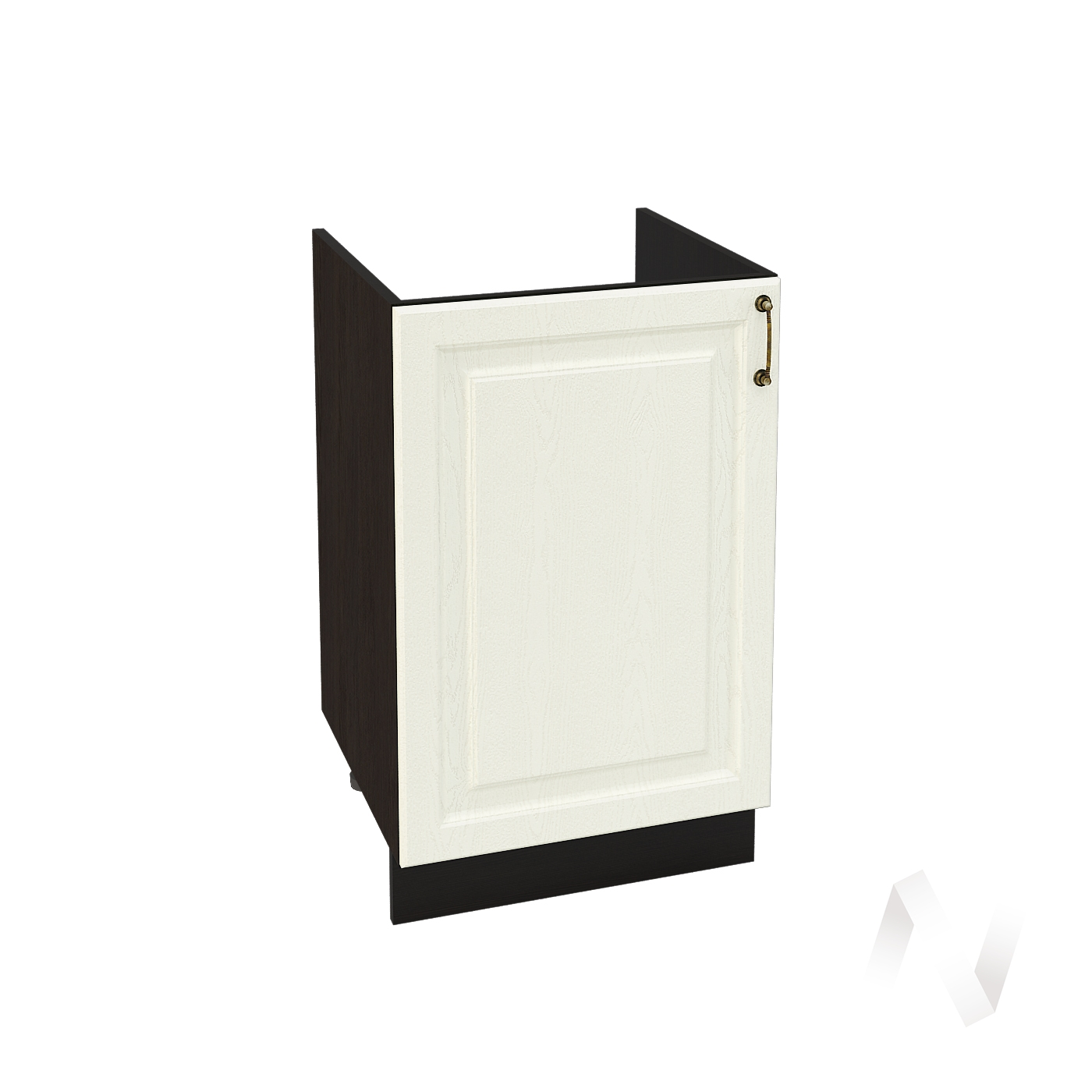 "Кухня ""Ницца"": Шкаф нижний под мойку 500, ШНМ 500 (Крем/корпус венге)"