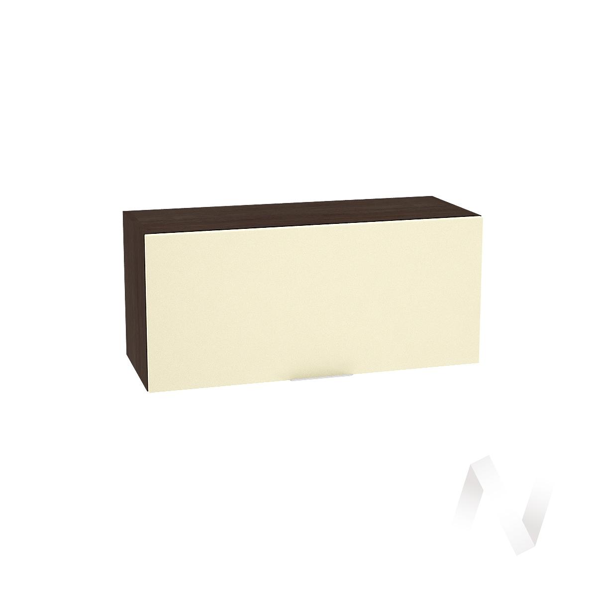 """Кухня """"Терра"""": Шкаф верхний горизонтальный 800, ШВГ 800 (ваниль софт/корпус венге)"""