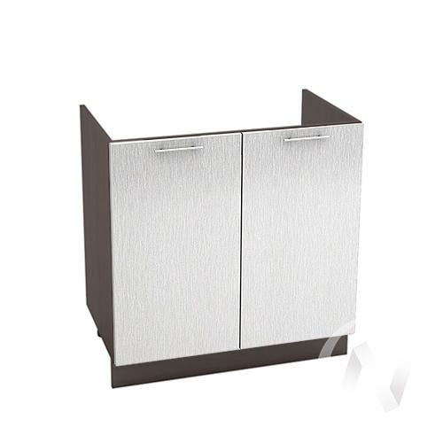 "Кухня ""Валерия-М"": Шкаф нижний под мойку 800, ШНМ 800 (дождь серый/корпус венге)"