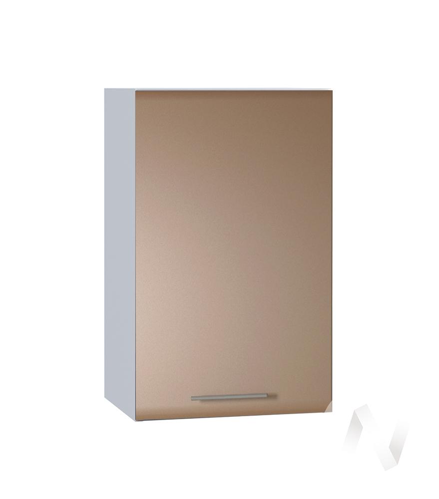 """Кухня """"Люкс"""": Шкаф верхний 400, ШВ 400 (Шоколад матовый/корпус белый)"""