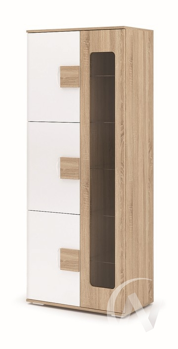 Шкаф Афина ШК-113 (дуб сонома/белый глянец, дуб сонома)