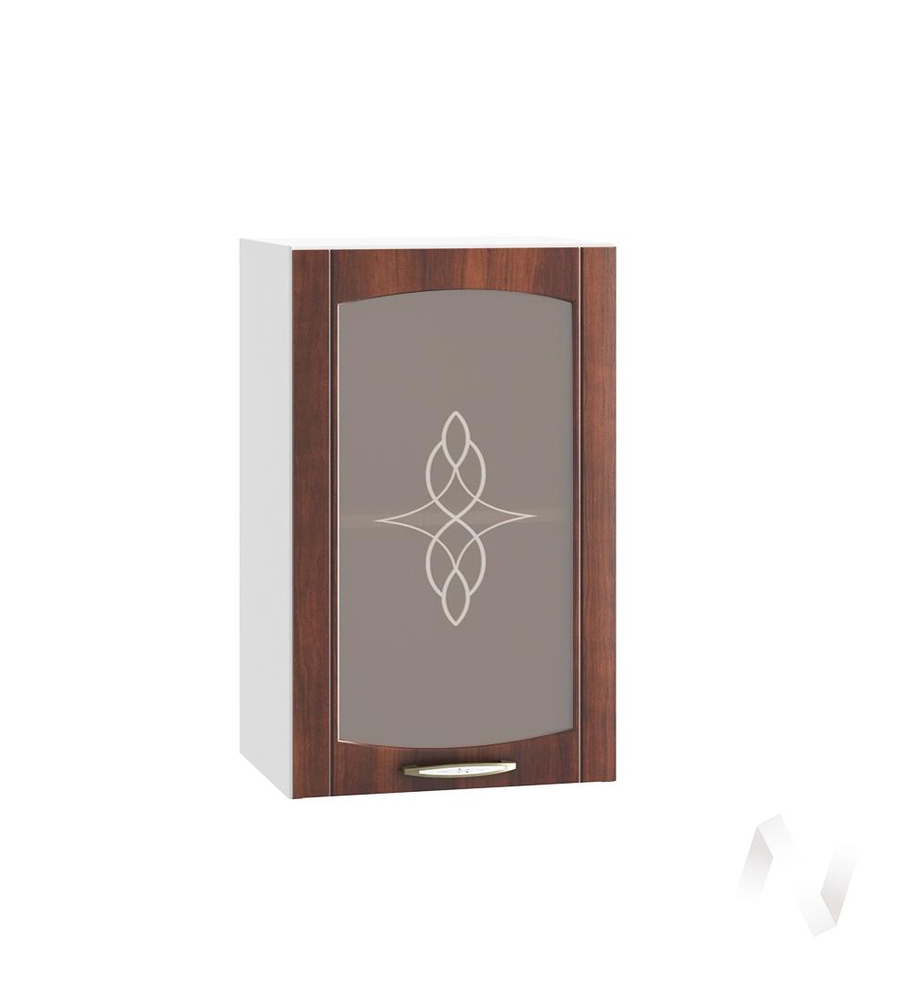"""Кухня """"Неаполь"""": Шкаф верхний со стеклом 400, ШВС 400 (Италия/корпус белый)"""