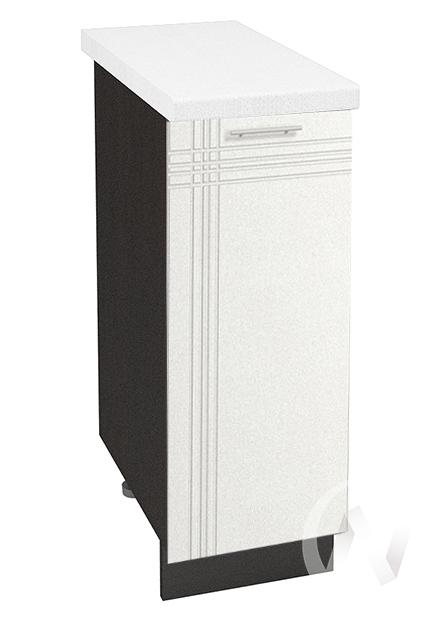 """Кухня """"Струна"""": Шкаф нижний 300, ШН 300 (белый металлик/корпус венге)"""
