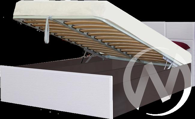 Палермо Кровать 1,4 с подъемным механизмом (венге-белый дым)