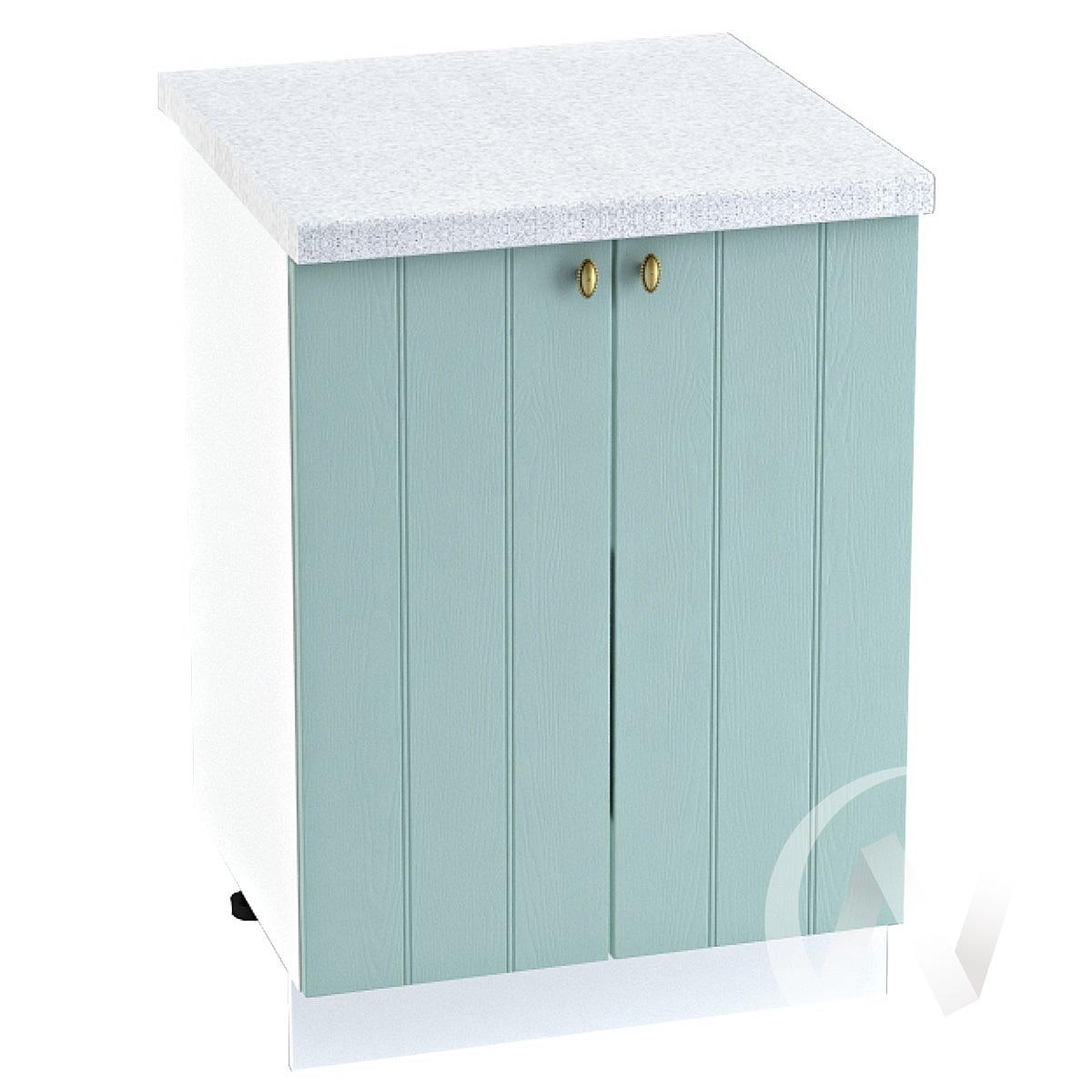 "Кухня ""Прованс"": Шкаф нижний 600, ШН 600 (голубой/корпус белый)"