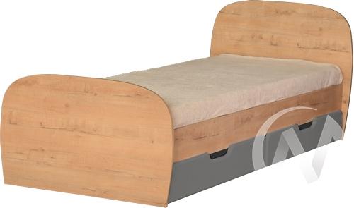 Скай М13 Кровать с ящиками 800*2000 (дуб бунратти/графит)