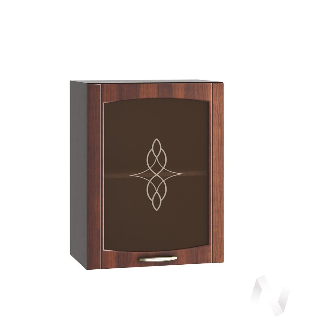 """Кухня """"Неаполь"""": Шкаф верхний со стеклом 500, ШВС 500 (Италия/корпус венге)"""