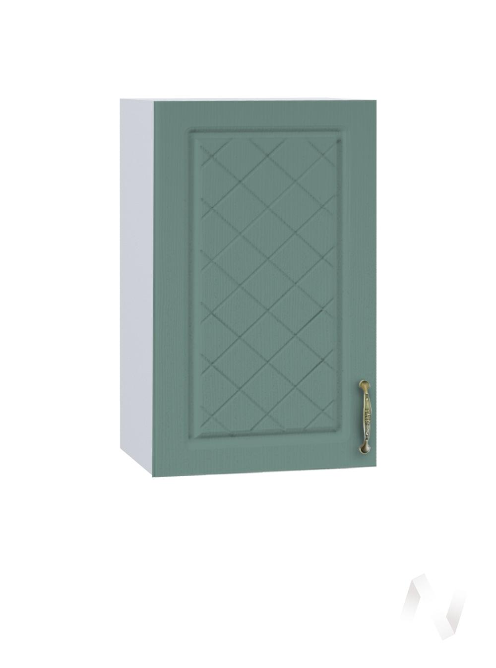 """Кухня """"Селена"""": Шкаф верхний 400, ШВ 400 (Дуб бирюзовый/корпус белый)"""