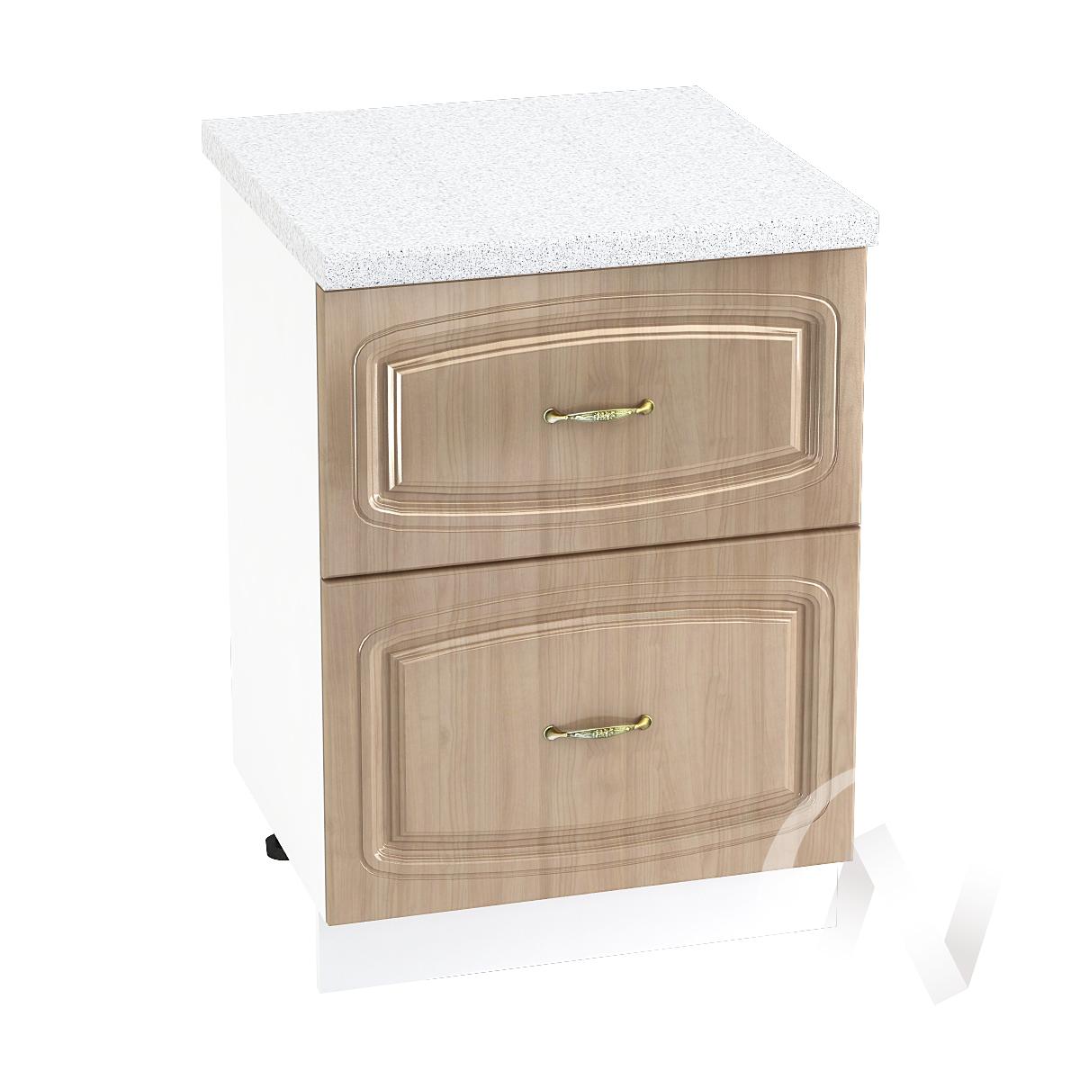 """Кухня """"Сити"""": Шкаф нижний с 2-мя ящиками 600, ШН2Я 600 (корпус белый)"""