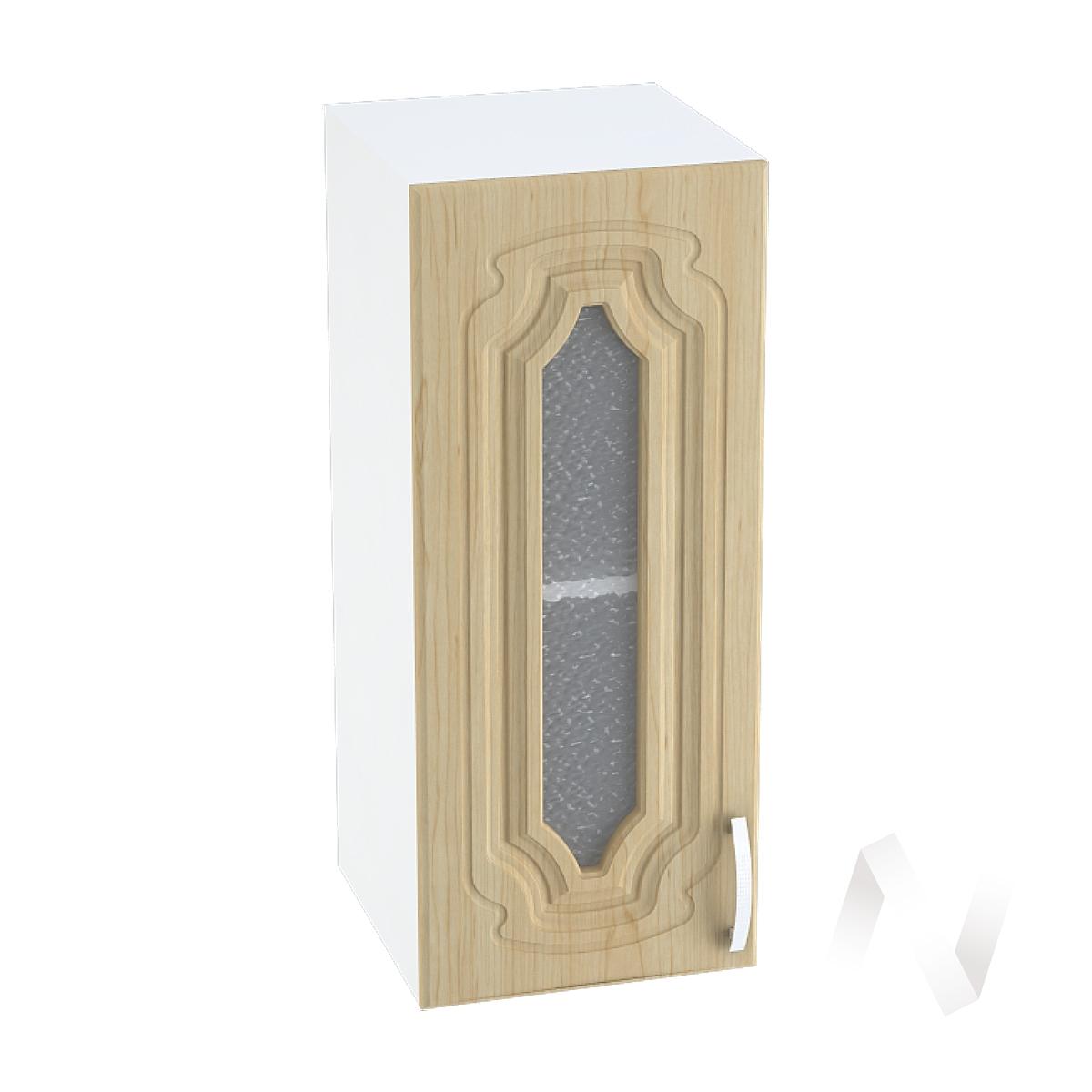 """Кухня """"Настя"""": Шкаф верхний со стеклом 300, ШВС 300 (Береза/корпус белый)"""