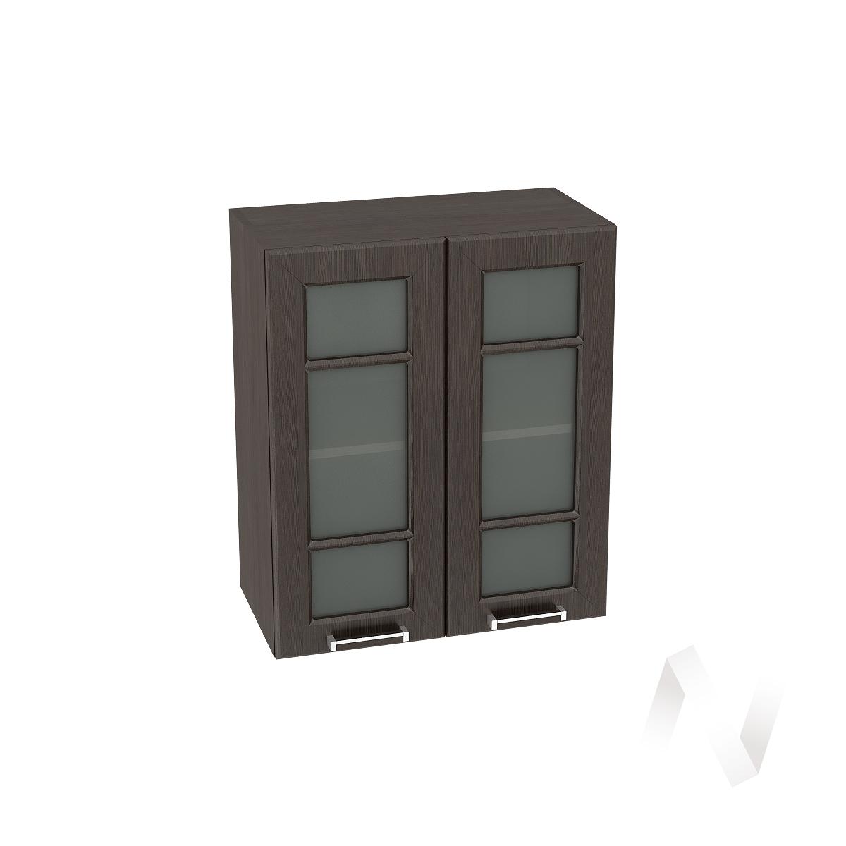 """Кухня """"Прага"""": Шкаф верхний со стеклом 600, ШВС 600 (венге/корпус венге)"""