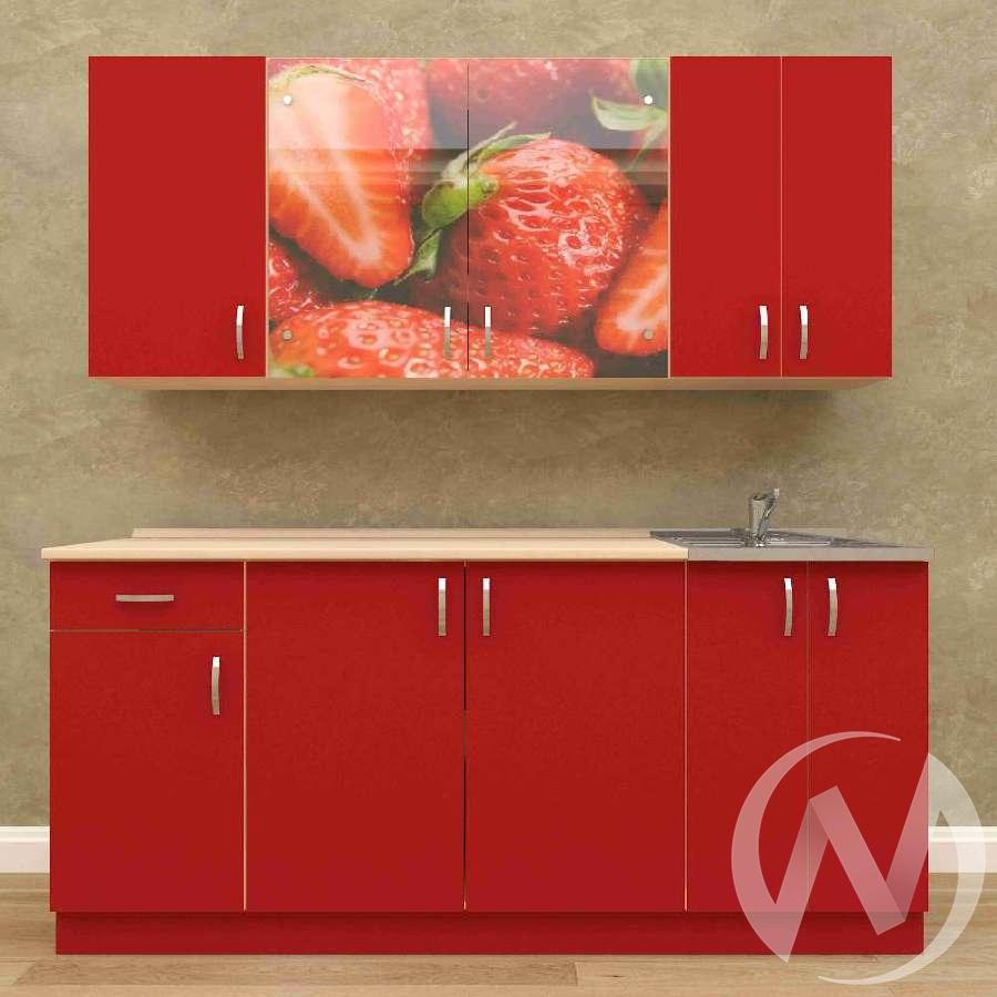 Кухня Виктория 1,8 м (белый/красный)