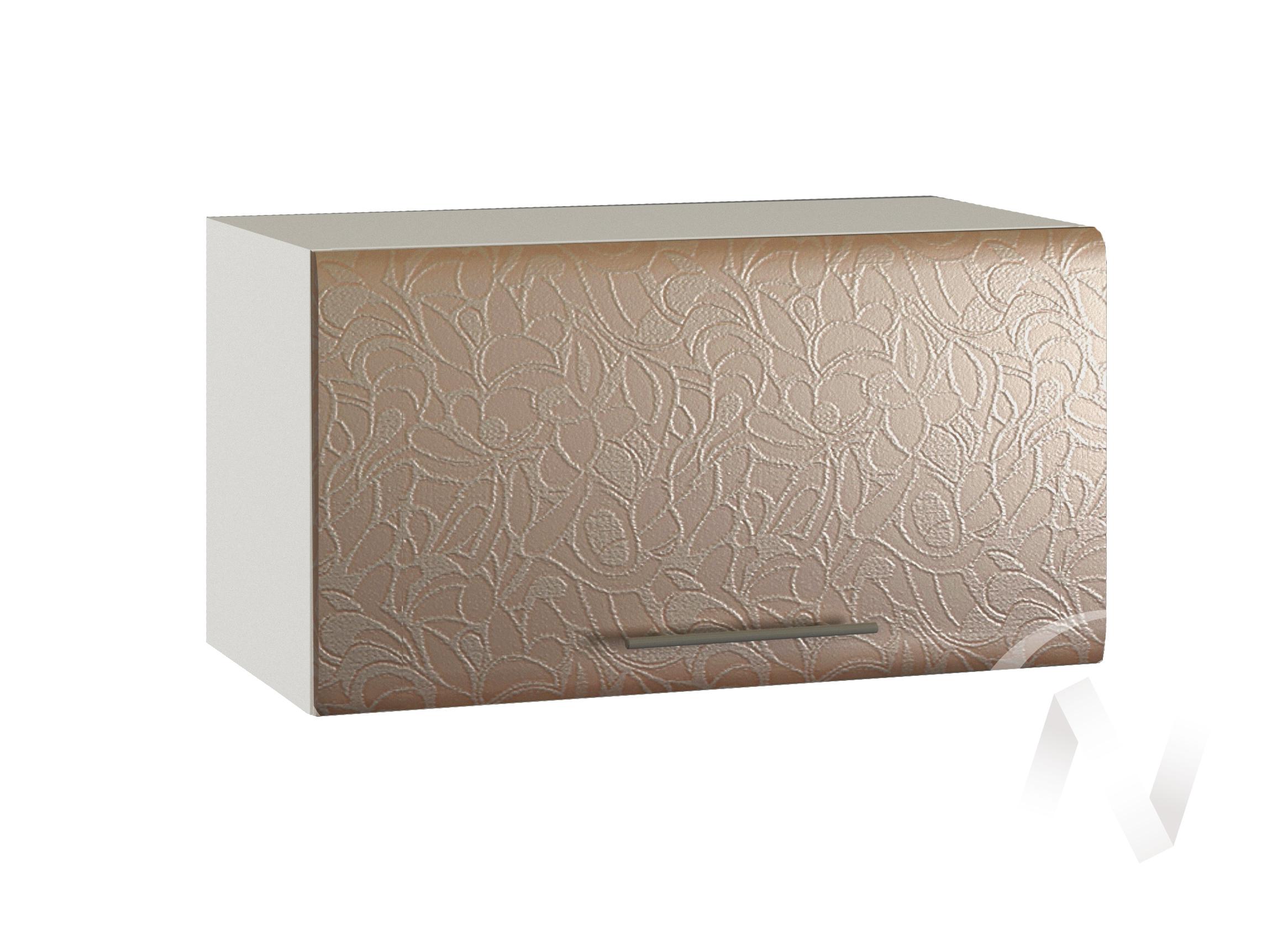 """Кухня """"Люкс"""": Шкаф верхний горизонтальный 600, ШВГ 600 (Гобелен шампань/корпус белый)"""