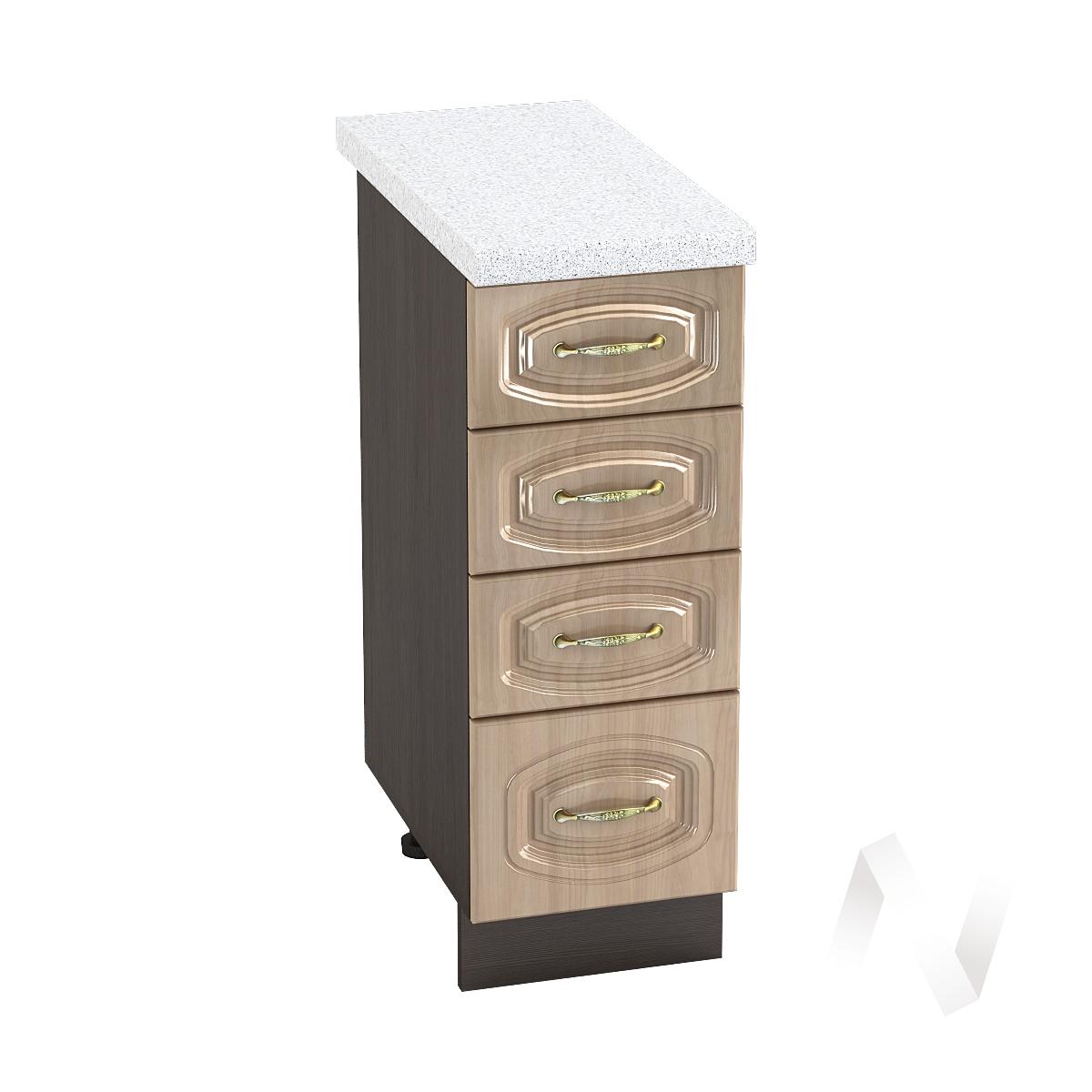 """Кухня """"Сити"""": Шкаф нижний с 4-мя ящиками 300, ШН4Я 300 (корпус венге)"""