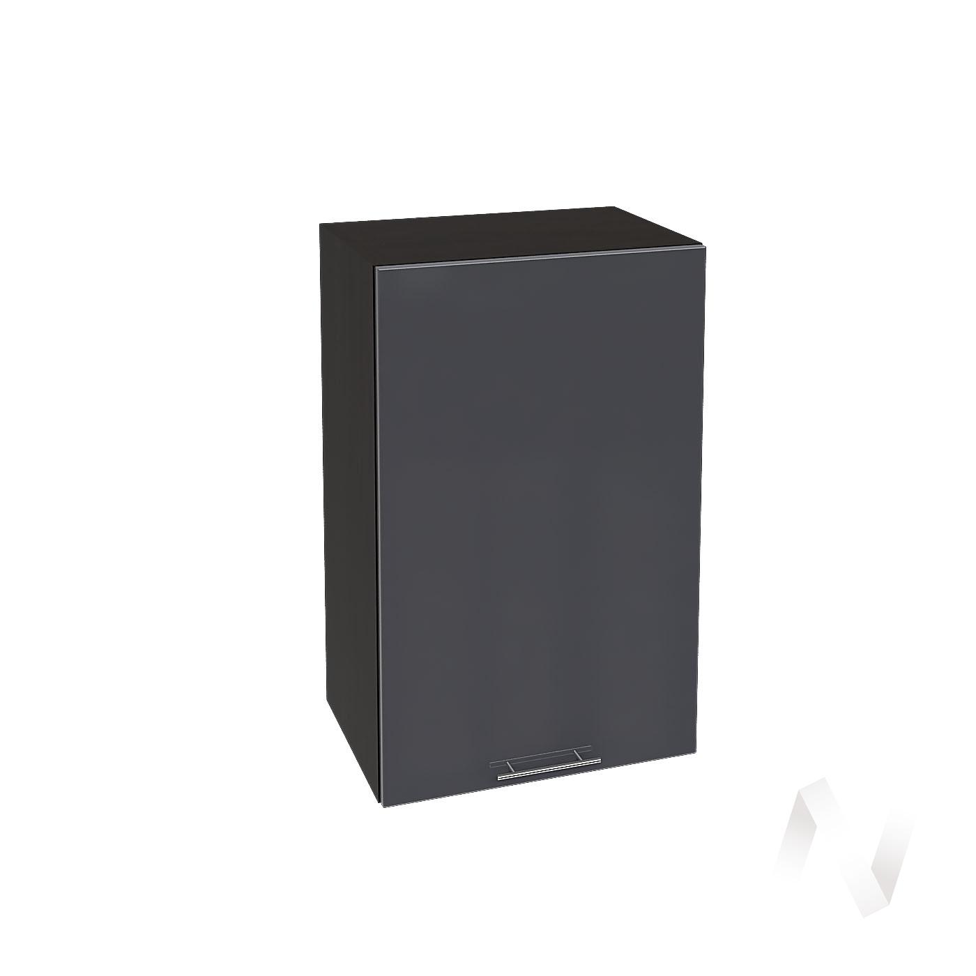 """Кухня """"Валерия-М"""": Шкаф верхний 450, ШВ 450 (Антрацит глянец/корпус венге)"""