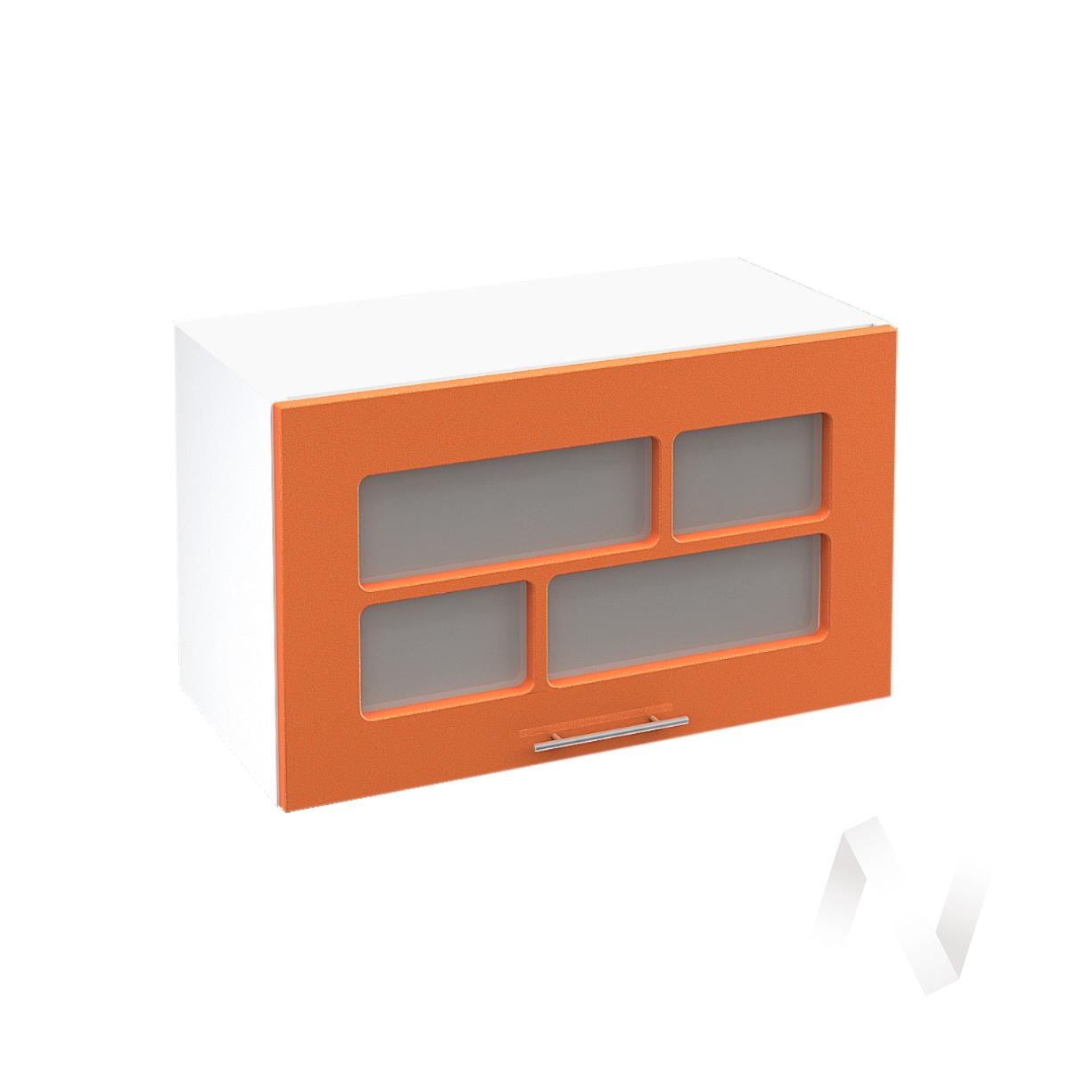 """Кухня """"Техно"""": Шкаф верхний горизонтальный со стеклом 600, ШВГС 600 (корпус белый)"""