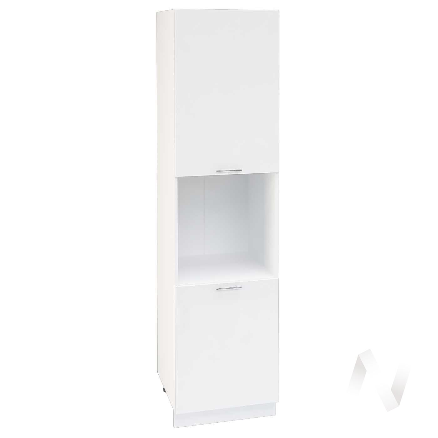 """Кухня """"Валерия-М"""": Шкаф пенал 600Н, ШП 600Н (белый глянец/корпус белый)"""