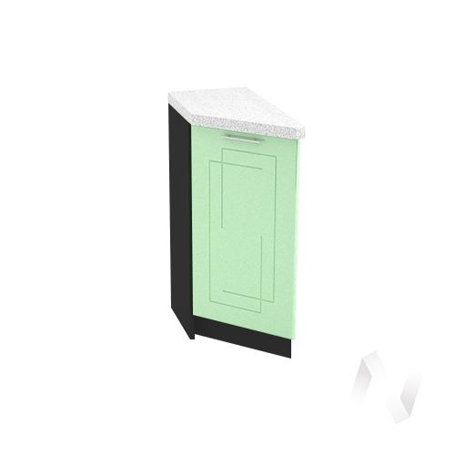 """Кухня """"Вега"""": Шкаф нижний торцевой 300, ШНТ 300 (салатовый металлик/корпус венге)"""