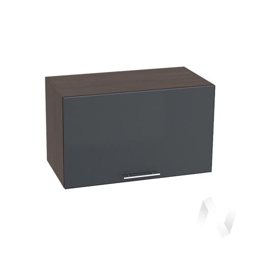 """Кухня """"Валерия-М"""": Шкаф верхний горизонтальный 600, ШВГ 600 (Антрацит глянец/корпус венге)"""