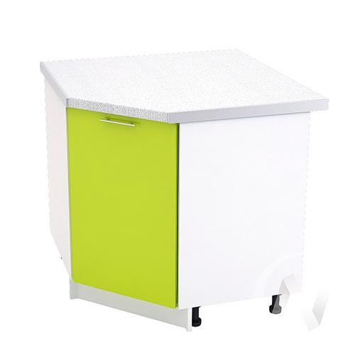 "Кухня ""Валерия-М"": Шкаф нижний угловой 890, ШНУ 890 (лайм глянец/корпус белый)"