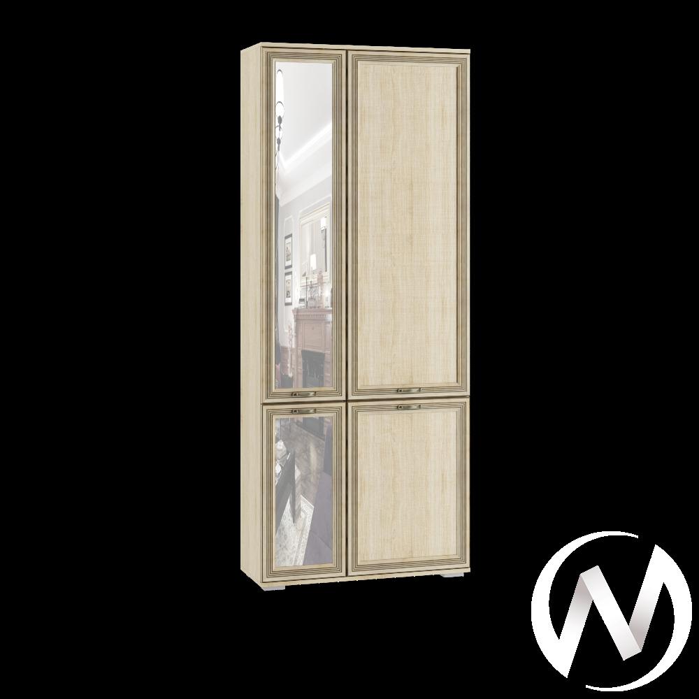 Шкаф комби с зеркалом ЛШ-9 Гостиная Ливорно (дуб сонома)