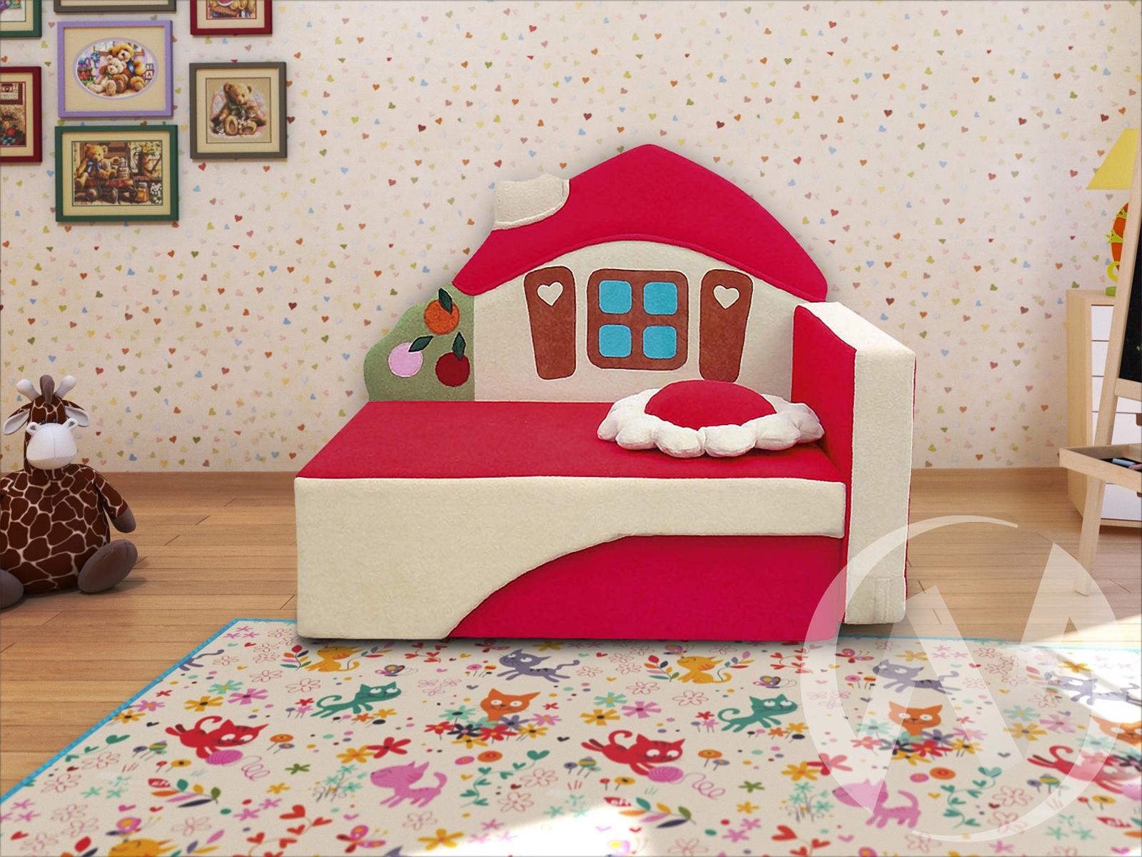 Домик диван детский правый