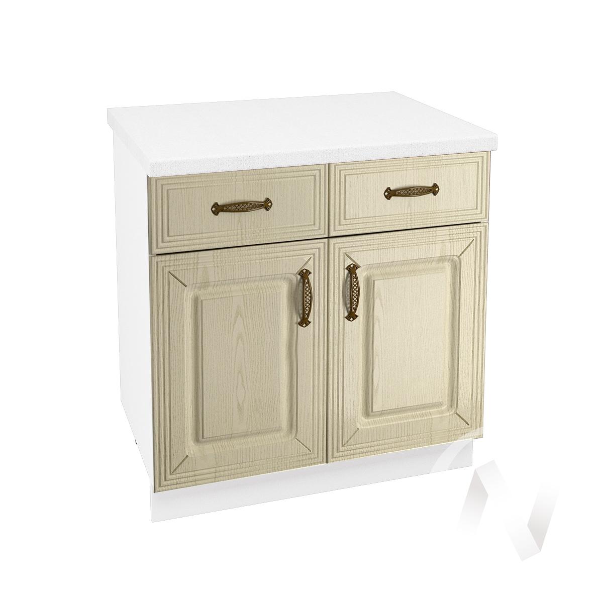"""Кухня """"Изабель"""": Шкаф нижний с ящиками 800, ШН1Я 800 (корпус белый)"""