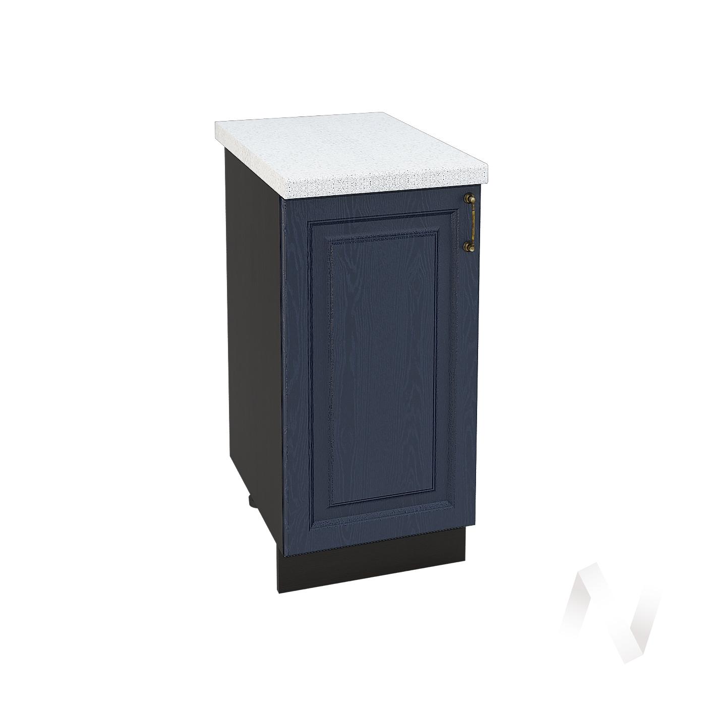 """Кухня """"Ницца"""": Шкаф нижний 400, ШН 400 (Дуб чернильный/корпус венге)"""