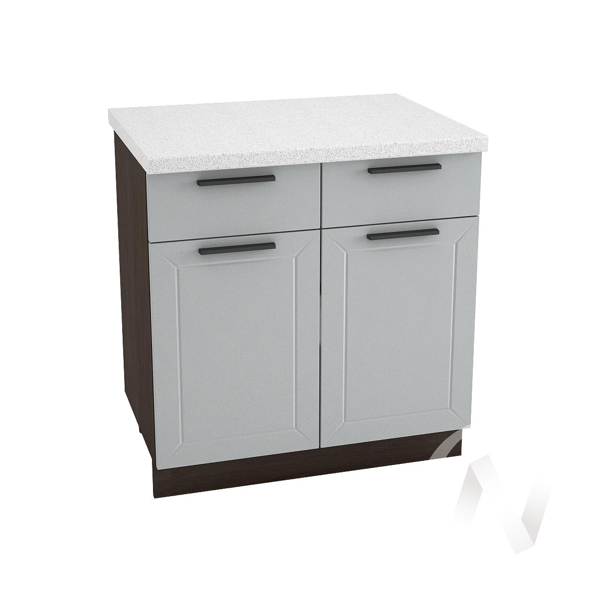 """Кухня """"Глетчер"""": Шкаф нижний с ящиками 800, ШН1Я 800 (Гейнсборо Силк/корпус венге)"""