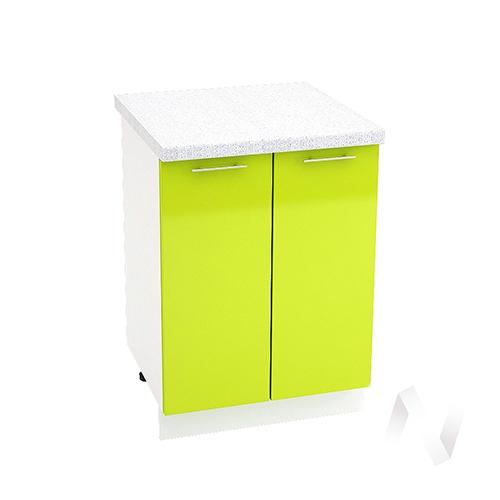 "Кухня ""Валерия-М"": Шкаф нижний 600, ШН 600 (лайм глянец/корпус белый)"