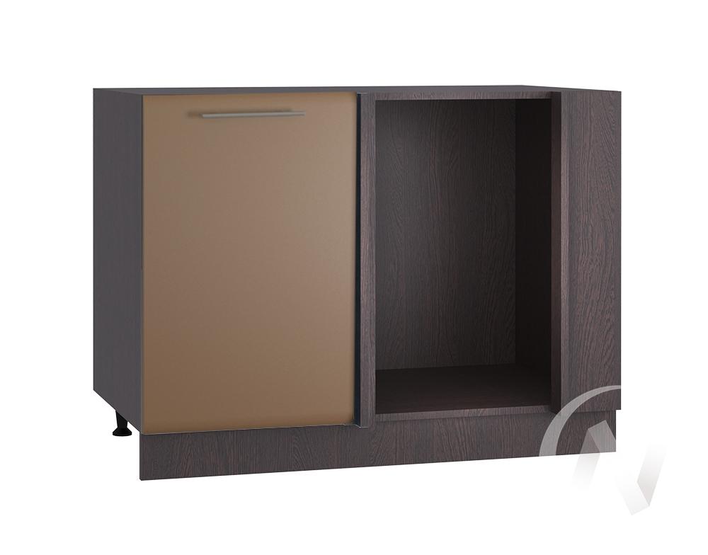 """Кухня """"Люкс"""": Шкаф нижний угловой 990, ШНУ 990 (Шоколад матовый/корпус венге)"""