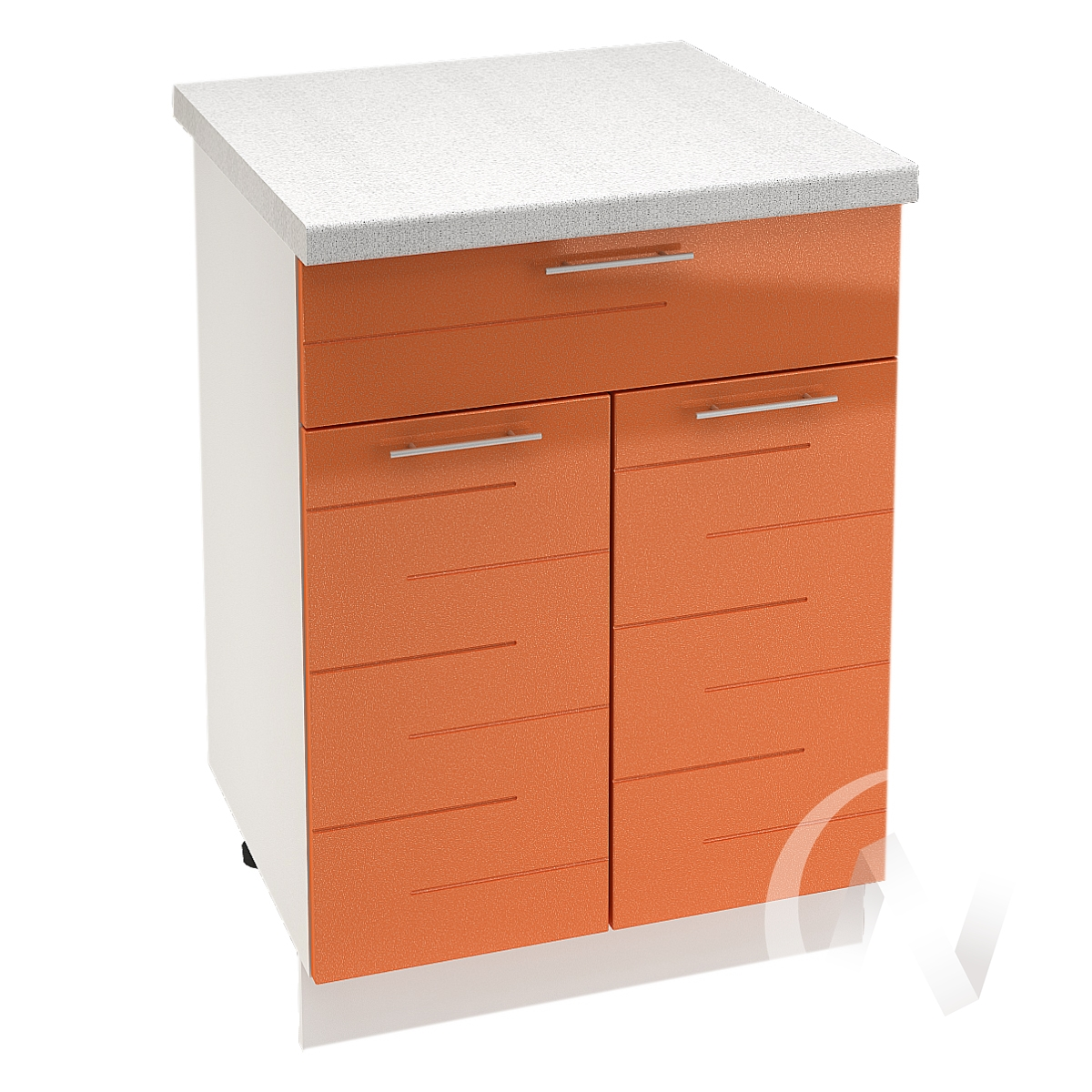 "Кухня ""Техно"": Шкаф нижний с ящиком 600, ШН1Я 600 М (корпус белый)"